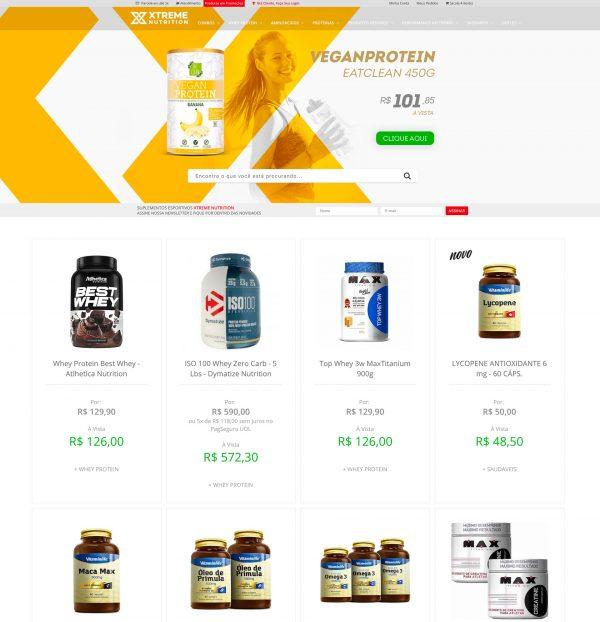 Loja Virtual – Xtreme Nutrition